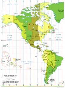 time zone map and south america central time zone america