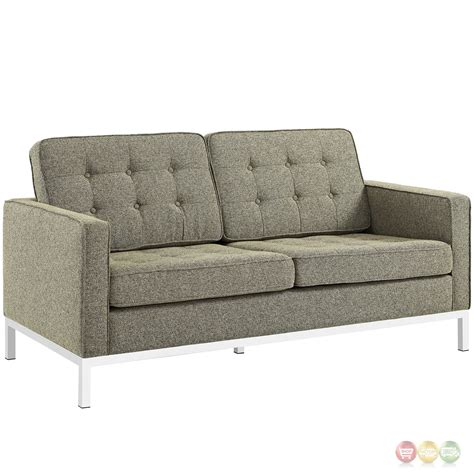 3 pc sofa set loft modern 3 pc button tufted upholstered sofa set w