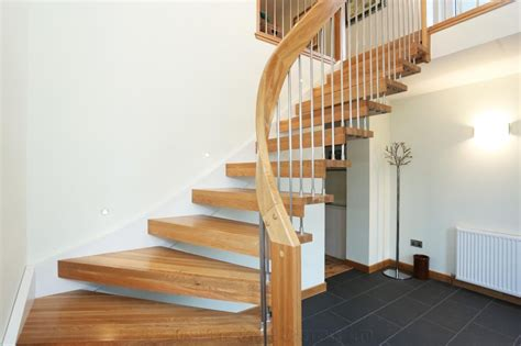 Modern Stairs Design Indoor Bespoke Timber Staircase Aberdeen With Floating Treads