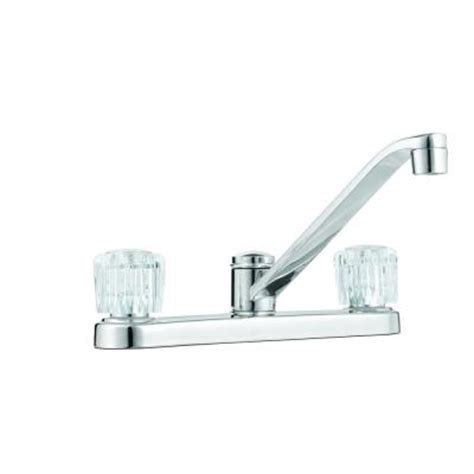 glacier bay aragon 2 handle standard kitchen faucet in