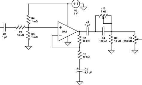 resistor divider audio calculating input impedance with wye voltage divider in non inverting op audio lifiers