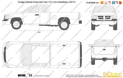 dodge dakota bed size the blueprints com vector drawing dodge dakota