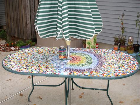 how to a tile table top for outdoors lovely custom oval patio table with appealing colorful