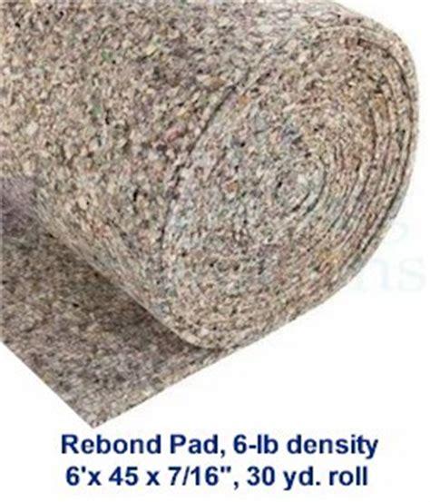 selecting   carpet pad padding cushion