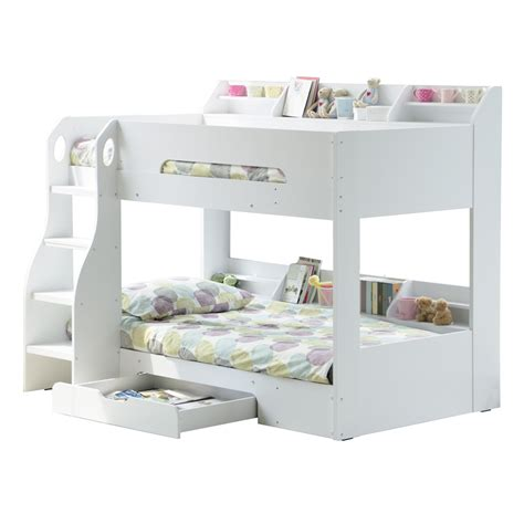 white bunk beds with storage kids flick bunk bed in white with storage kids beds