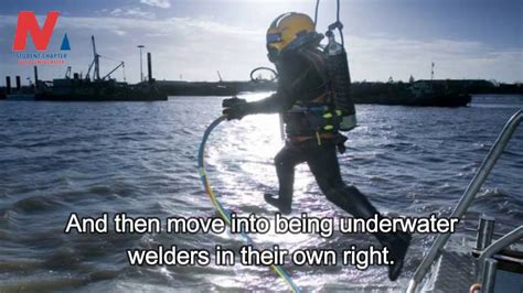 underwater welding mechanism requirements
