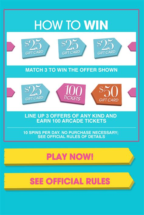 Shn Gift Card - hsn spin2win instant win game win a 50 gift card
