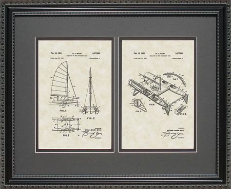 catamaran gifts catamaran patent art wall hanging nautical navy gift