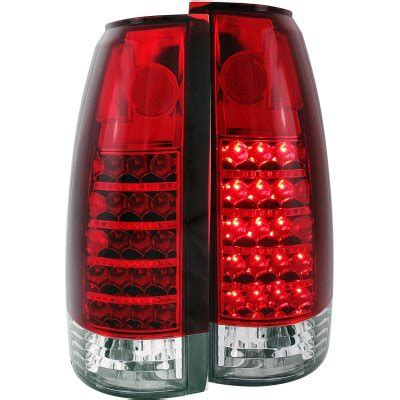 chevy 3500 pickup 1988 1998 red and clear led tail lights