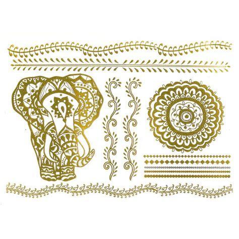 tattoo mandala gold metallic tattoo henna inspired gold metallic temporary
