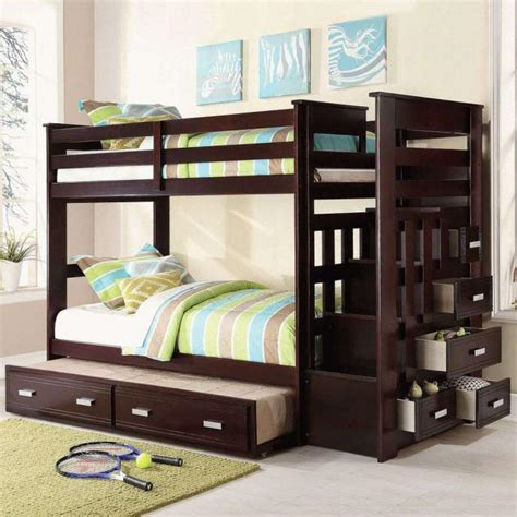 bunk bed with trundle and drawers buy allentown bunk bed with trundle and