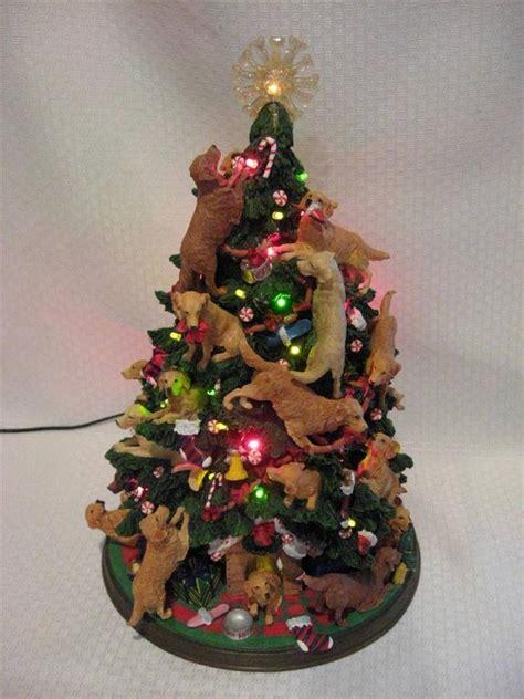 rare the danbury mint lighted dog golden retriever
