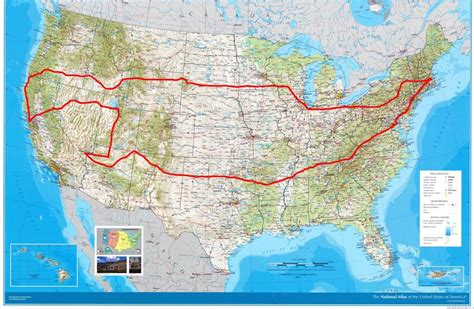 map us road trip united states road trip map