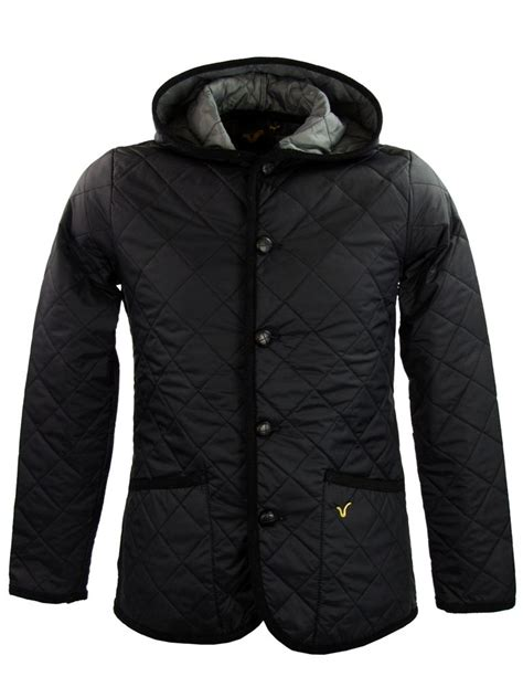 Voi Quilted Jacket Mens by Mens Voi Hoodie Quilted Style Jacket Coat