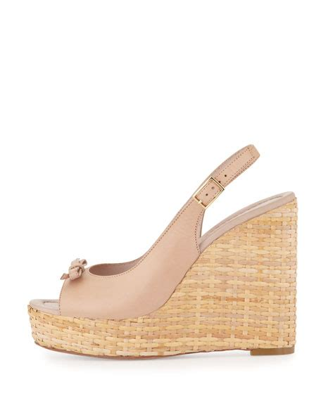 pale pink wedge sandals kate spade new york della leather wedge sandal pale pink