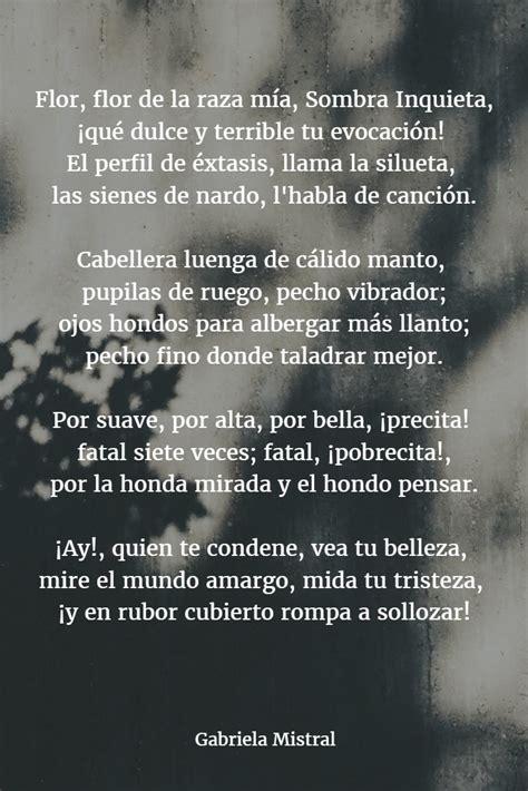 poemas de gabriela mistral versos biograf 237 a y frases