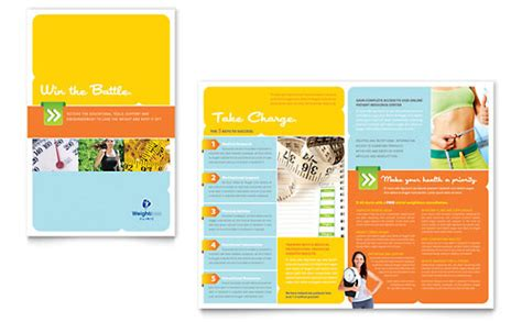 diet nutrition brochure templates sports fitness