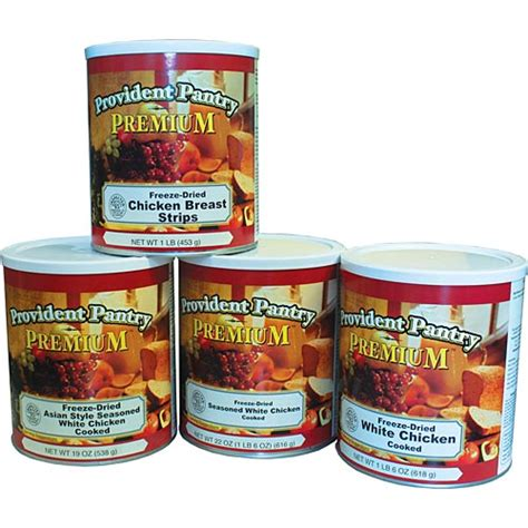 freeze dried chicken combo by provident pantry 4 10 cans