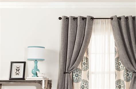 target blue curtains contemporary living room with gray curtain panels target
