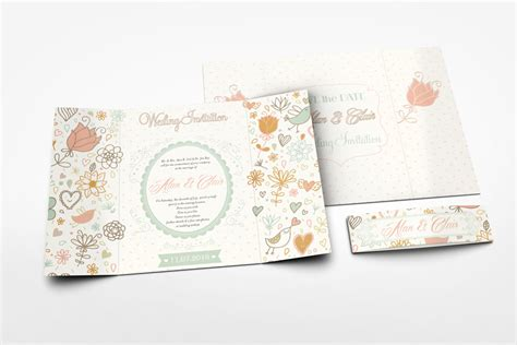 gatefold wedding invitation mockup graphicriver mock ups