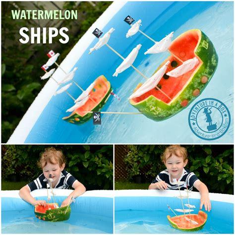 watermelon boats play watermelon ship summer craft adventure in a box