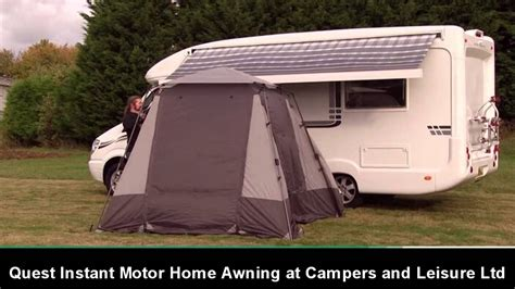 motor home awning quest instant motor home awning youtube