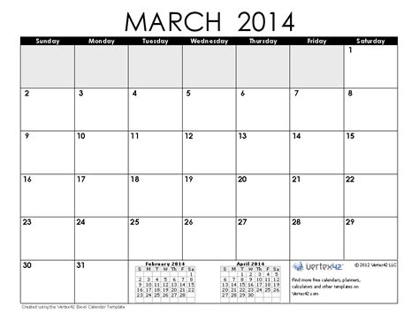 image gallery march 2014 calendar