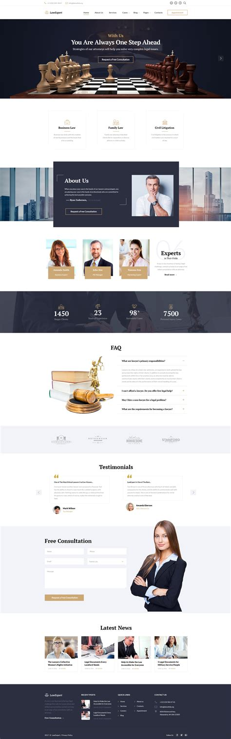 Lawexpert Lawyer Attorney Website Template Firm Responsive Website Template