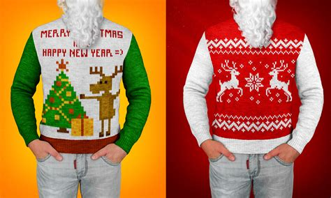 christmas sweater photoshop actions and mock up by lil