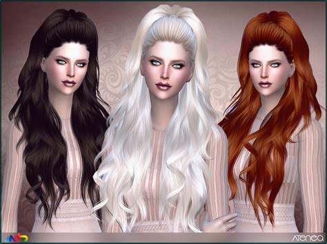 sims 3 hair braid tsr the sims resource over anto atenea hair