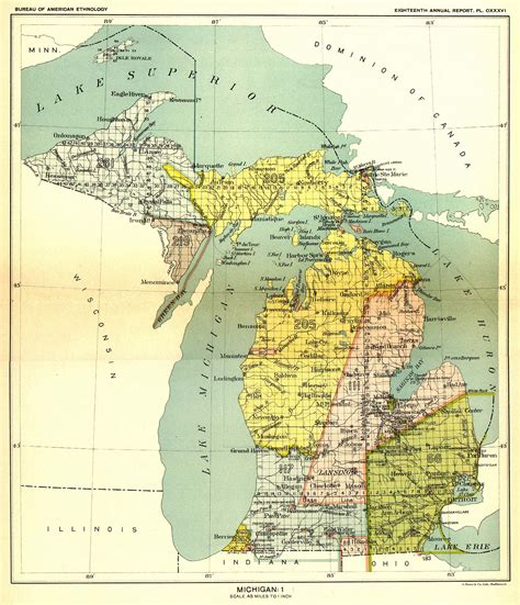 michigan state land map indian land cessions in the u s michigan 1 map 29