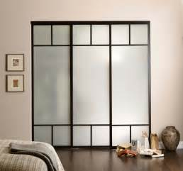 Round Glass Nightstand Opaque Glass Wardrobe Sliding Doors With Black Wooden