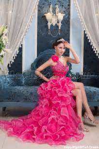 high low pink colorful quinceanera dress 1st dress com