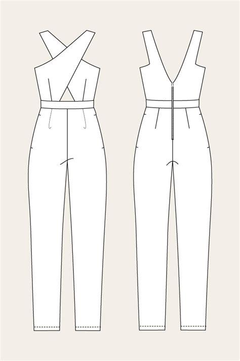 jumpsuit template ailakki cross front jumpsuit named