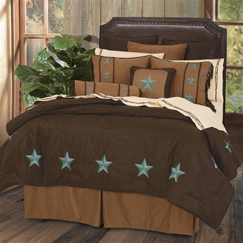 brown and turquoise comforter delectably yours com laredo turquoise star western