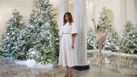 witte huis kerst 5500 meter aan kerstljes melania trump heeft het witte