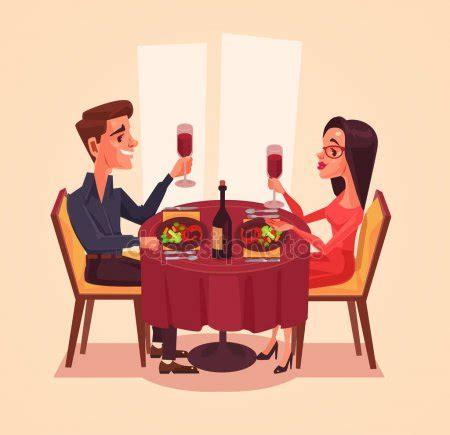 imagenes de parejas romanticas cenando pareja almorzando im 225 genes vectoriales ilustraciones