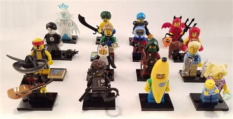 Lego Minifigures Series 12 Complete Set 16 Character lego series 16 71013 images box distribution and feel