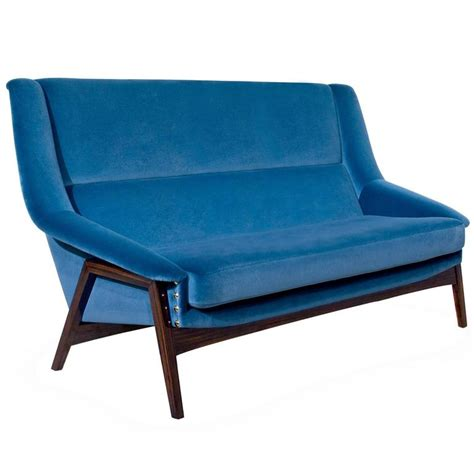 cotton velvet sofa prima sofa two seater in cotton velvet and ebony wood