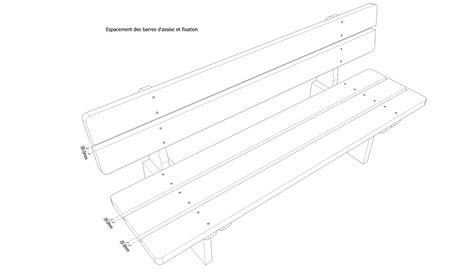 Plan D Un Banc En Bois by Plans Pour Fabrication D Un Banc En Bois Massif