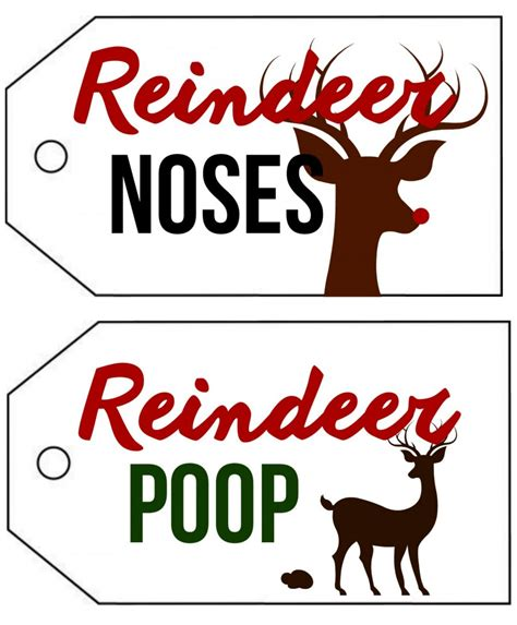 printable reindeer noses topper reindeer noses and poop cause i m young at heart