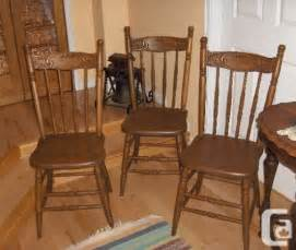 Solid Wood Dining Chairs For Sale 3 Sets Of Solid Wood Kitchen Dining Chairs 2 Antique Scarborough For Sale In Toronto