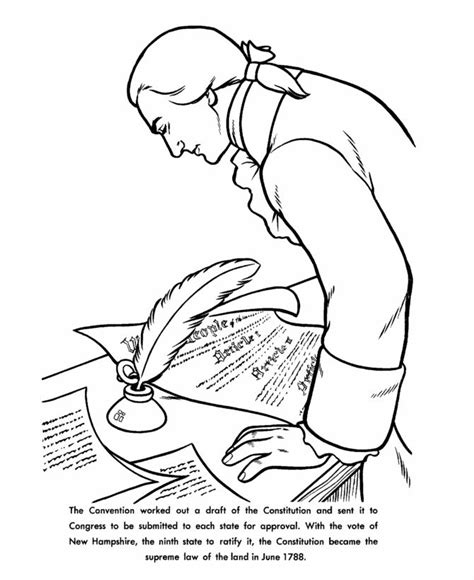 Constitution Day Coloring Pages constitution day coloring page coloring home