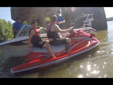 jet ski vs boat accident supercharged jetski crash with the gopro doovi
