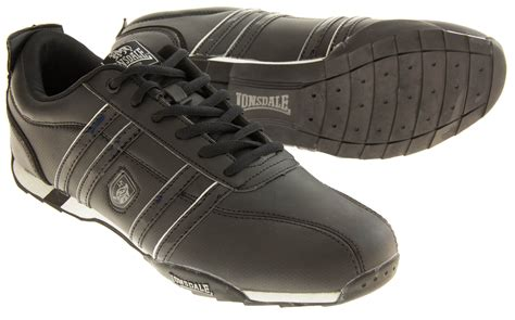 Lonsdale Style By Marlaba Shoes mens lonsdale leather trainers lace up casual designer