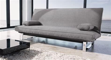 futon gestell klappbar stoff schlafsofa in grau ausklappbar schlafcouch astoria