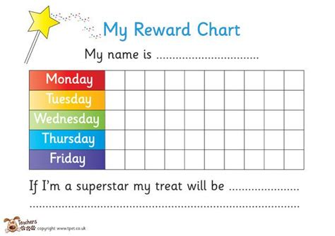 free printable weekly reward charts teacher s pet reward chart pack free classroom display