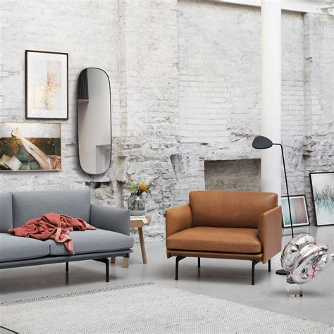 sofa sessel kombination outline armchair leather by muuto connox