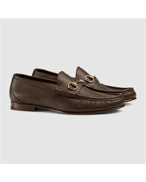 gucci 1953 horsebit loafer sale gucci 1953 horsebit leather loafer in brown for