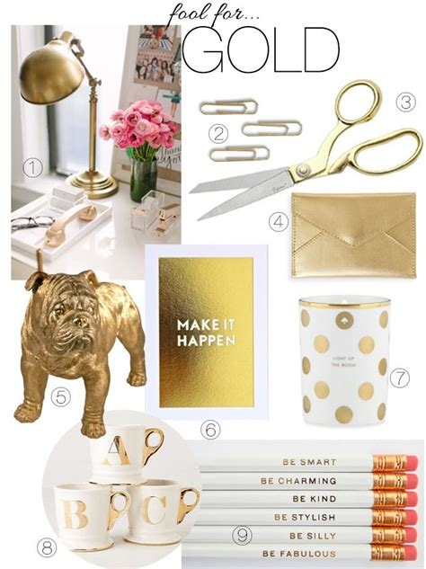 Gold Desk Accessories Pin By Kinley On Office Pinterest